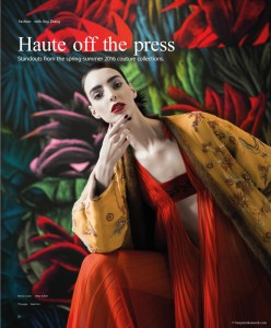 Dajana Antic in Haute off the Press by Benjamin Kanarek for SCMP