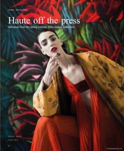 Dajana Antic in Haute off the Press by Benjamin Kanarek for SCMP